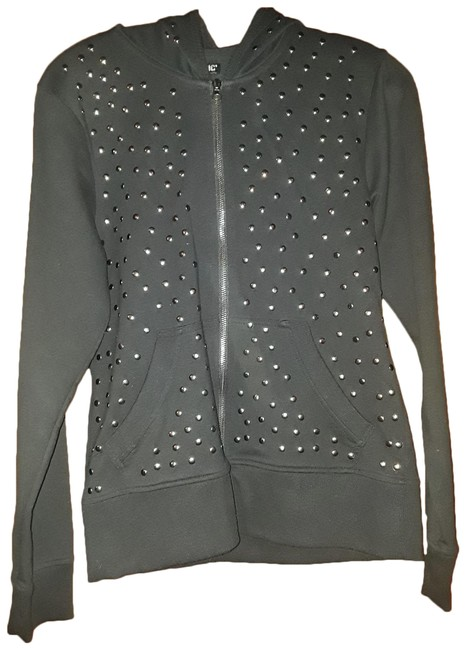 Hot Topic Black Studded Activewear Outerwear Size 12 (L) Hot Topic Black Studded Activewear Outerwear Size 12 (L) Image 1