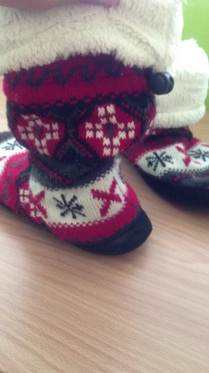 lukees black white red Boots