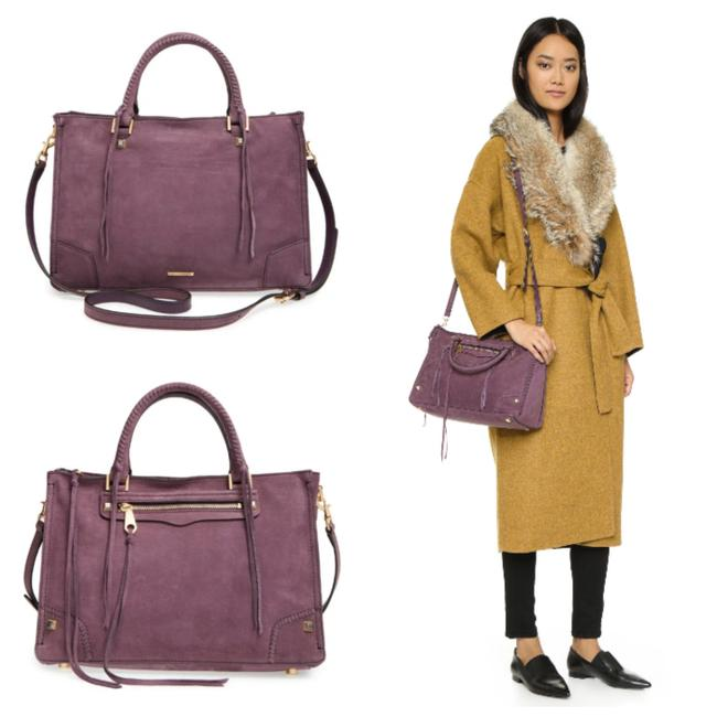 Item - Regan Tote Dark Cherry Suede Leather Satchel