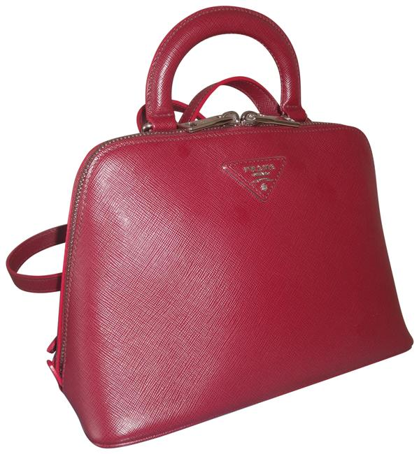 Item - 1bz003 Cerise Saffiano 3way Red Leather Backpack