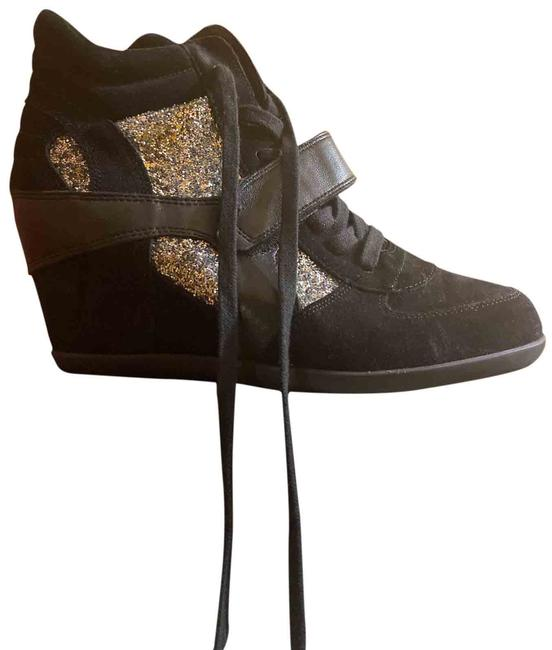 Item - Black Bowie Duede Wedge Glitter Sneakers Size US 11 Regular (M, B)
