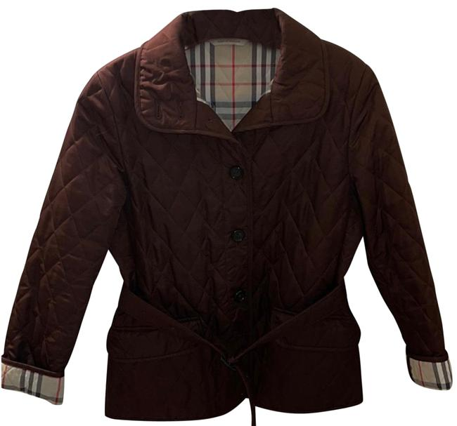 Item - Chestnut Brown Quilted Jacket Size 2 (XS)