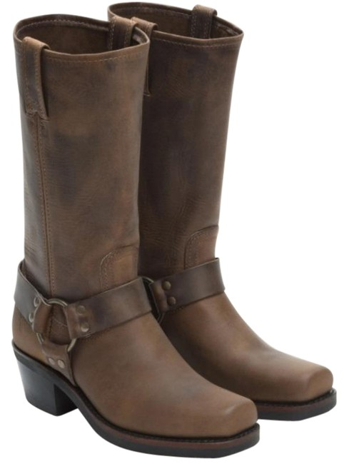 Item - Tan Women's Harness 12r Belt Buckle Square Steel Toe New Boxed Boots/Booties Size US 11 Regular (M, B)