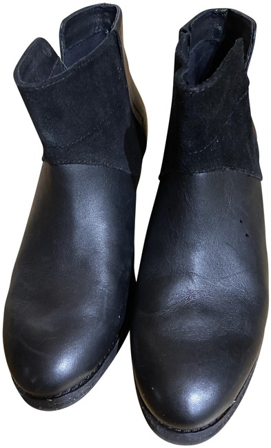 Item - Black Leather -suede Ankle Boots/Booties Size US 7 Regular (M, B)