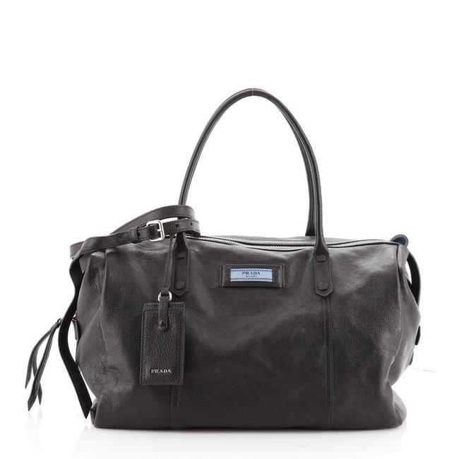 Item - Etiquette Duffle Overnight Glace Calf Large Black Leather Weekend/Travel Bag