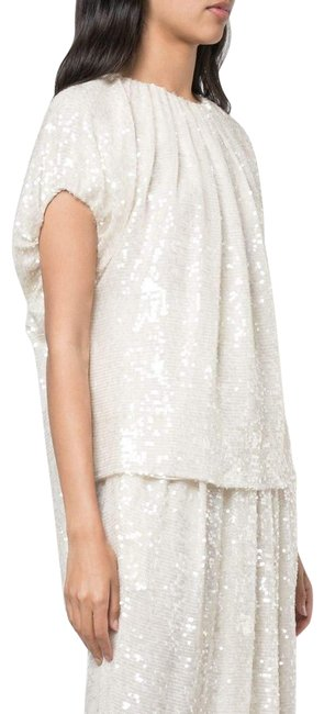 Item - White Sequined Blouse Size 4 (S)