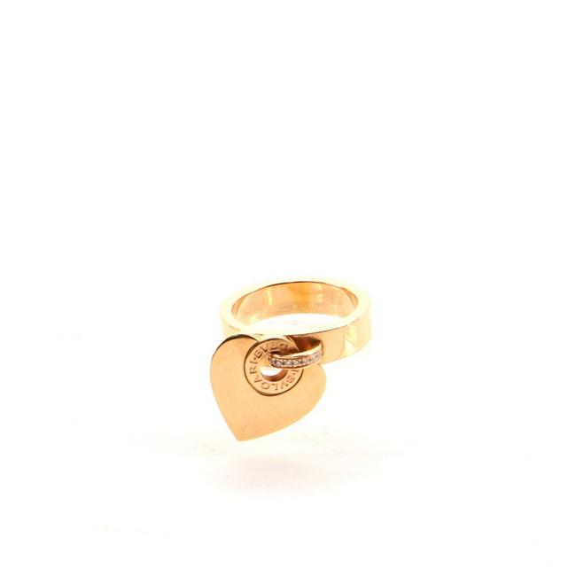 Item - Rose Gold Cuore Charm 18k and Diamonds Ring