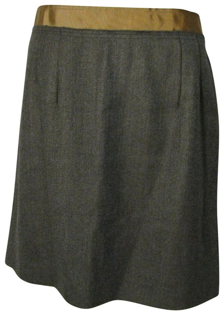 Item - Brown New Wool Blend Skirt Size 14 (L, 34)