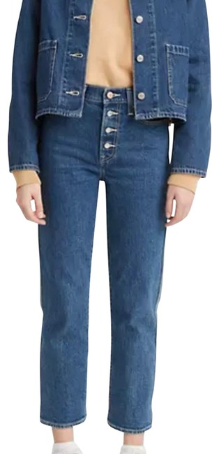 Item - Blue Light Wash Wedge Fit Utility Straight Leg Jeans Size 10 (M, 31)