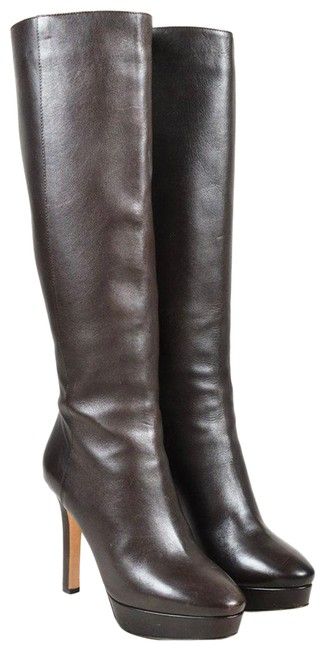 Item - Brown 122 Nappa Major Knee High Platform Boots/Booties Size EU 37 (Approx. US 7) Regular (M, B)
