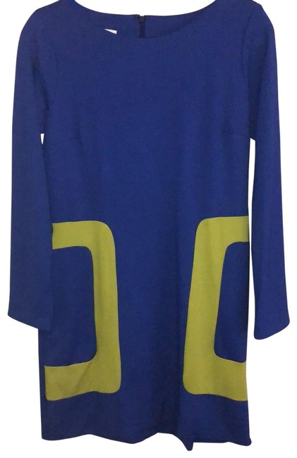 Item - Blue/Lime Rn#130838 Mid-length Work/Office Dress Size 4 (S)