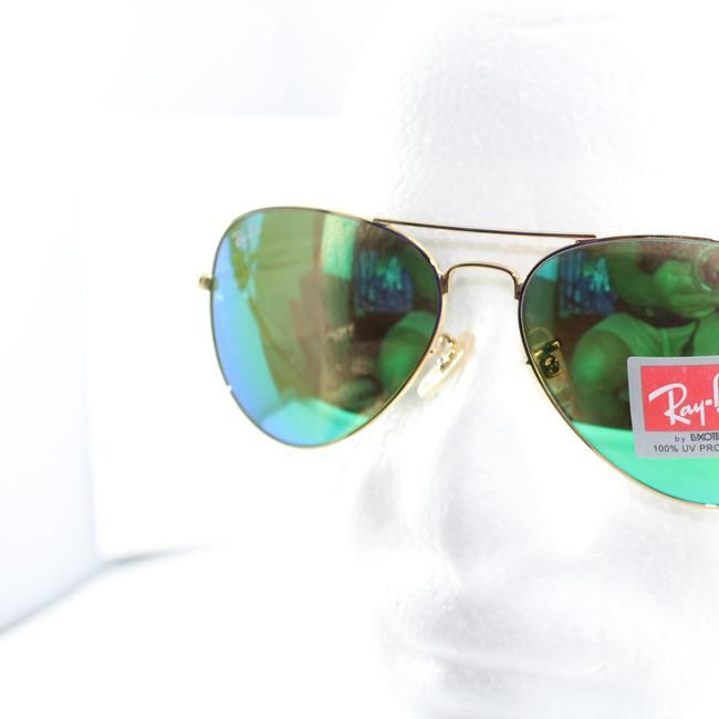 Item - Gold/Green Flash Rb3025 Gold/Green 58 Mm Sunglasses