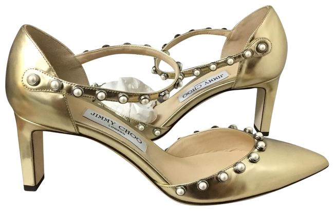 Jimmy Choo Gold Pumps Size EU 39 (Approx. US 9) Regular (M, B) Jimmy Choo Gold Pumps Size EU 39 (Approx. US 9) Regular (M, B) Image 1