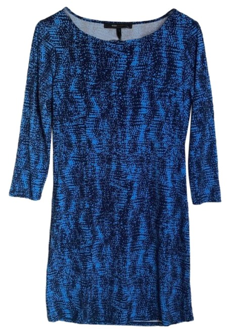 Item - Pacific Blue Combo Mid-length Work/Office Dress Size 2 (XS)