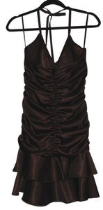 Jessica McClintock Short Satin 6 Petite Dress
