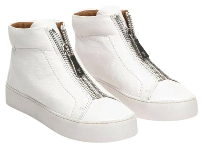 Item - White Leather Zip Up High Top New Sneakers Size US 11 Regular (M, B)