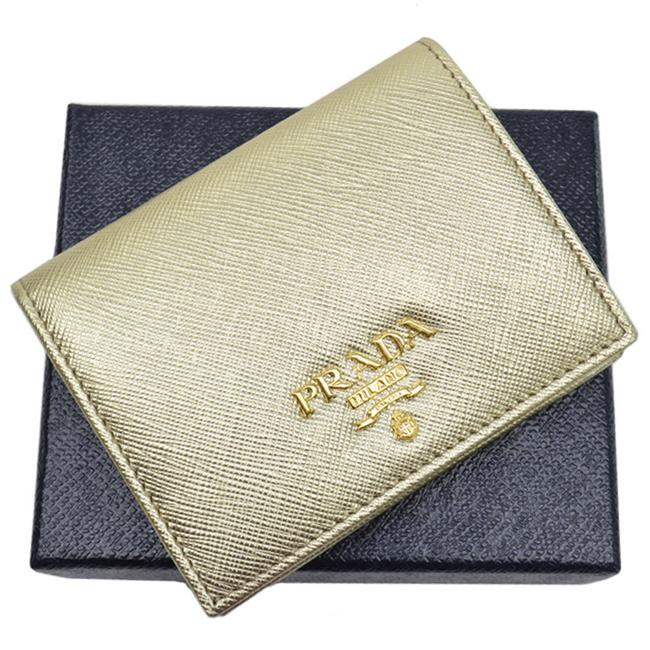 Item - Gold Leather Folded Ladies Wallet