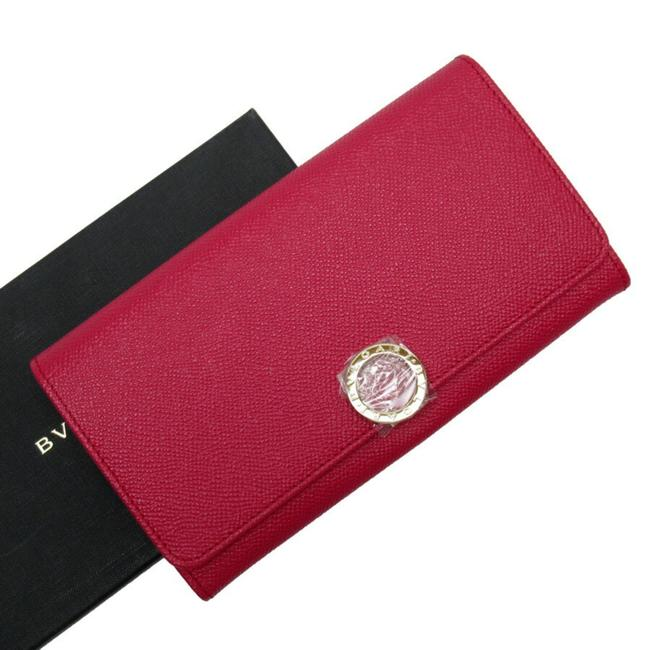 Item - Gold / Pink Long Silver Leather Wallet