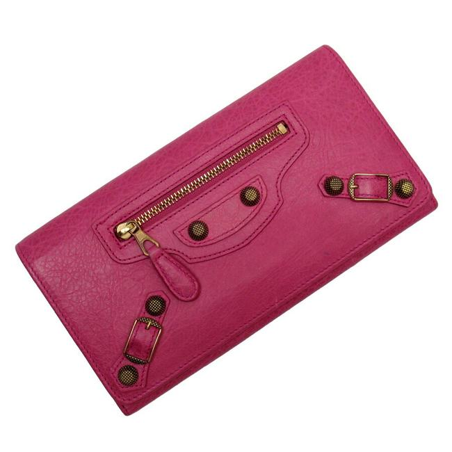 Item - Gold / Pink Long Leather Wallet