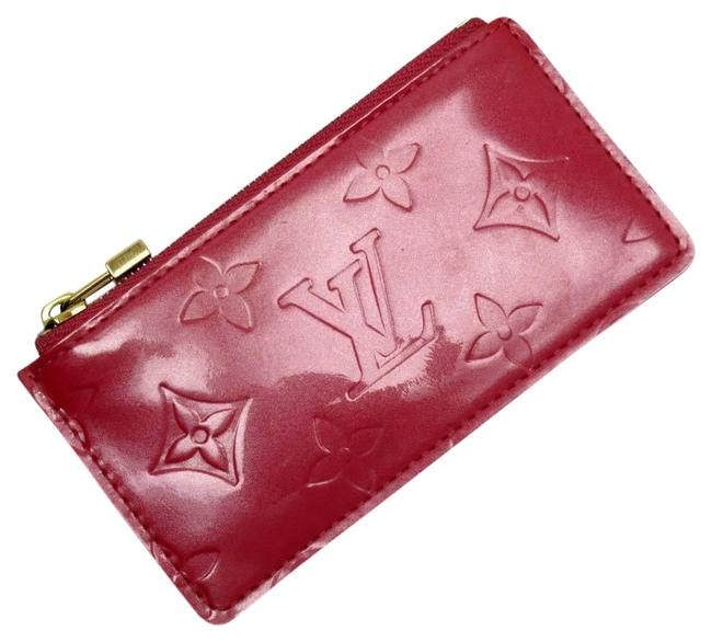 Item - Framboise / Gold / Pink Pochette Coin Case Monogram Verni Cle Patent Leather M9144f Wallet