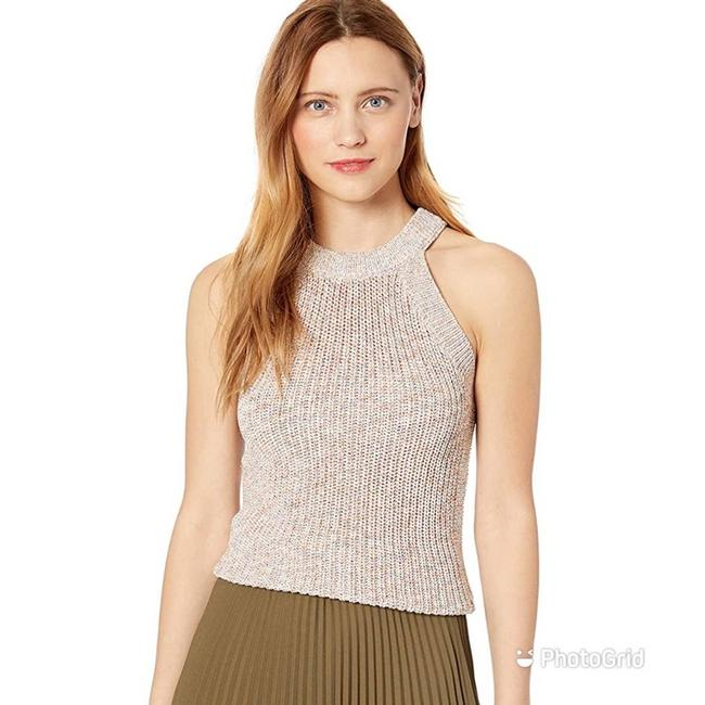 Ella Moss Nude Beige Pink Margot Sleeveless Sweater Tank Pullover Halter Fitted Knit Blouse Size 4 (S) Ella Moss Nude Beige Pink Margot Sleeveless Sweater Tank Pullover Halter Fitted Knit Blouse Size 4 (S) Image 1