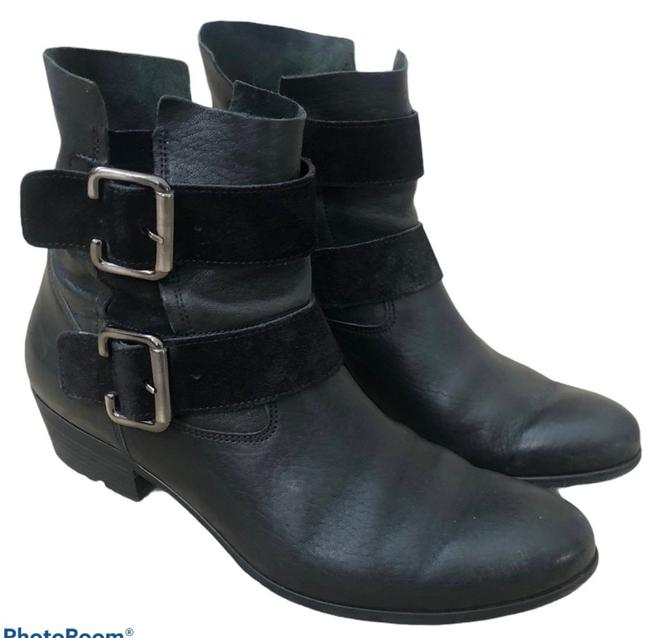 Item - Black Slouchy Buckle Boots/Booties Size US 8 Regular (M, B)