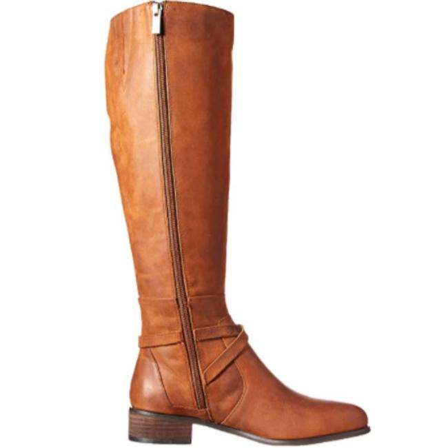 Charles David Tan Fine Leather Solo Riding Knee High with Zipper Boots/Booties Size US 7.5 Regular (M, B) Charles David Tan Fine Leather Solo Riding Knee High with Zipper Boots/Booties Size US 7.5 Regular (M, B) Image 1