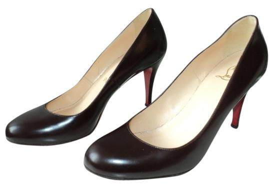 new styles e71c1 336d2 Brown Simple 100mm Pumps