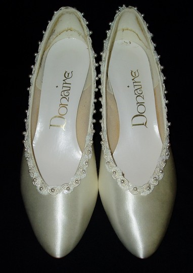 White Formal Satin Dressy Shoes Wedding Shoes