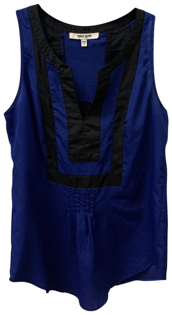 Item - Blue and Black #11782pc1 Blouse Size 2 (XS)