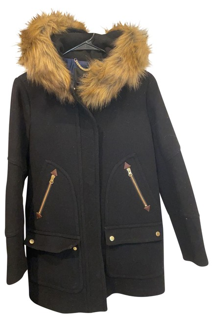 Item - Black with Brown Fur Chateau Parka In Italian Stadium-cloth Wool Coat Size 4 (S)