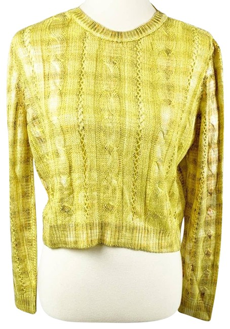 Item - New Yellow Shimmery (Sz: M) Gold Sweater