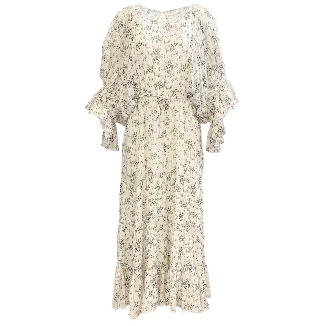 Item - Ivory and Black Ischia Silk Mid-length Casual Maxi Dress Size 2 (XS)