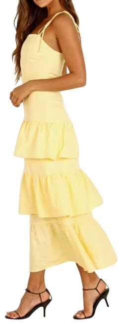 Item - Yellow Quinn Tiered Ruffle Casual Maxi Dress Size 4 (S)