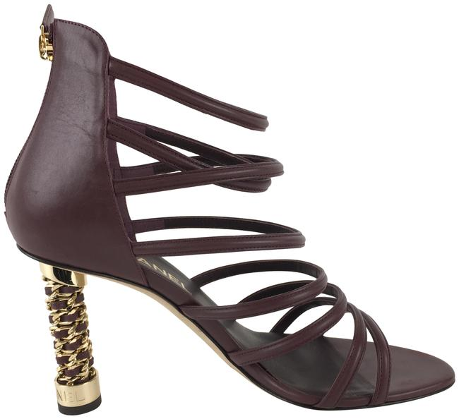 Item - Burgundy Calfkskin Cage Leather Sandals Boots/Booties Size EU 40 (Approx. US 10) Wide (C, D)