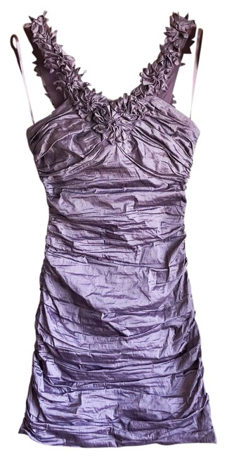 Item - Purple Ruched Cocktail Dress Size 0 (XS)