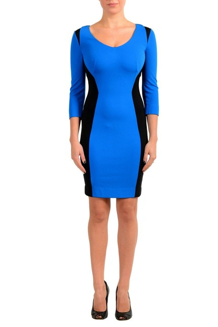Item - Black/Blue Women's & 3/4 Sleeve Bodycon Short Casual Dress Size 4 (S)