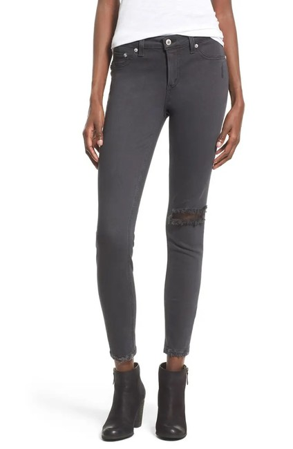 Item - Black / Dark Grey Distressed Crissi Midrise Skinny Jeans Size 8 (M, 29, 30)