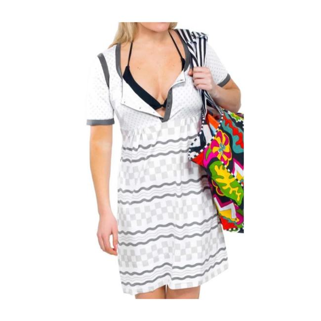 Item - White Checkerboard Short Casual Dress Size 2 (XS)