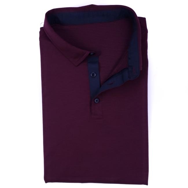 Item - Red Burgundy L Polo Large Mens Size Sleeves 3 Button Shirt