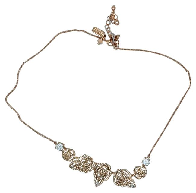 Item - Rose Gold and Clear O0ru3089 Necklace