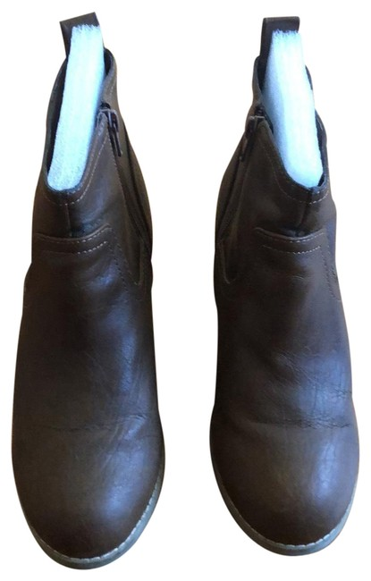 Item - Brown Faux Leather Boots/Booties Size US 7 Regular (M, B)
