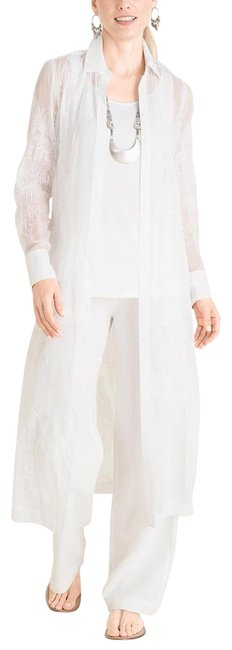 Item - White All-over Lace Tunic Size 14 (L)