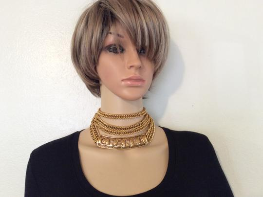 Chanel RARE VINTAGE CHANEL GOLD PLATED CUTOUT NECKLACE / BELT