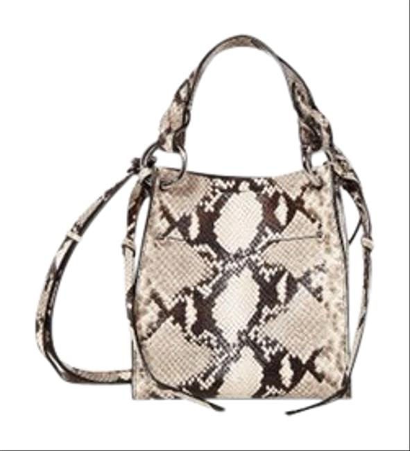 Item - Kate Mini Multicolor Embossed Snakeskin Leather Tote