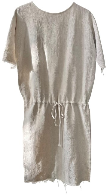 Item - Cream Quilted Short Casual Dress Size 8 (M)