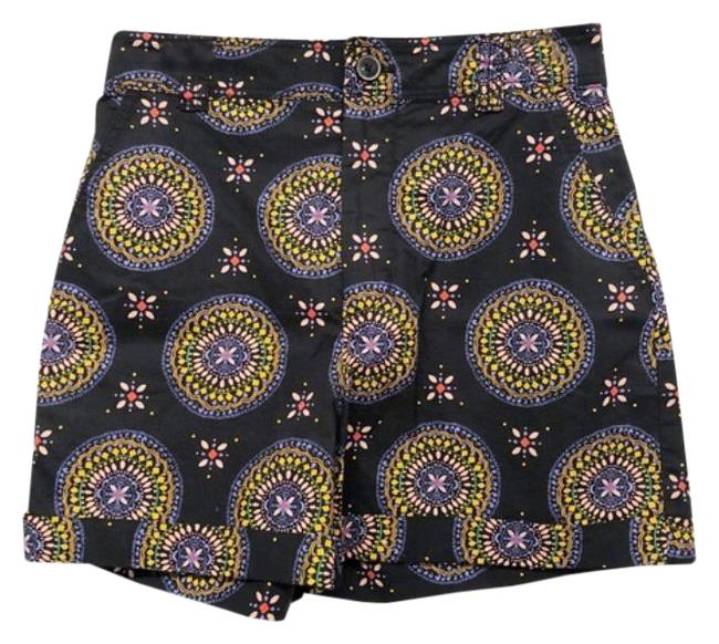 Item - Black Yellow High Rise Medallion Shorts Size 2 (XS, 26)