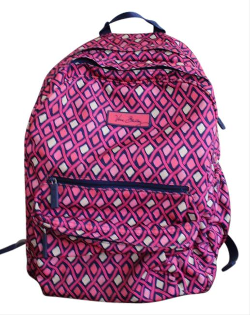 Item - Floral Pink. Blue Polyester Backpack