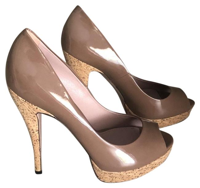Gucci Tan Vernice Crystal Pumps Size EU 39.5 (Approx. US 9.5) Regular (M, B) Gucci Tan Vernice Crystal Pumps Size EU 39.5 (Approx. US 9.5) Regular (M, B) Image 1