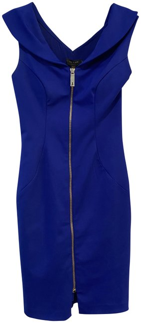 Ted Baker Royal Blue Never Worn (Bright) Mid-length Cocktail Dress Size 4 (S) Ted Baker Royal Blue Never Worn (Bright) Mid-length Cocktail Dress Size 4 (S) Image 1